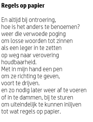 Gedicht Theo Olthuis
